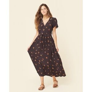 Christy Dawn Dawn Dress in Brown and Orange Floral